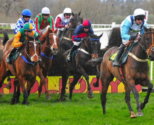 Horses Chase Leader